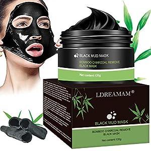 Mascarilla Exfoliante Facial,Puntos Negros Mascarilla,Black Mask Máscara Facial de Barro Negro,Purificante Espinillas y…