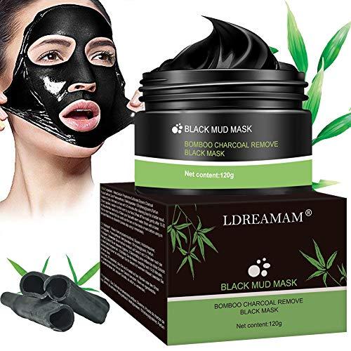 Mascarilla negra, máscara exfoliante, máscara negra