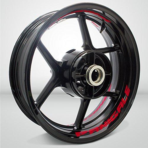 Preisvergleich Produktbild Reflektierende Rot Motorrad Inner Rim Tape Decal Aufkleber für Ducati Panigale