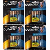 Duracell Alkaline Battery AA4 COMBO(8ultra +8normal) PACK OF 4 (16 cell)
