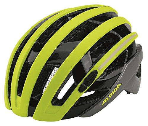ALPINA Campiglio Fahrradhelm, gelb (mit Flash), 55-59 cm
