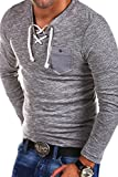 Carisma 2in1 Longsleeve mit Kordel T-Shirt 3143 [Grau, L]
