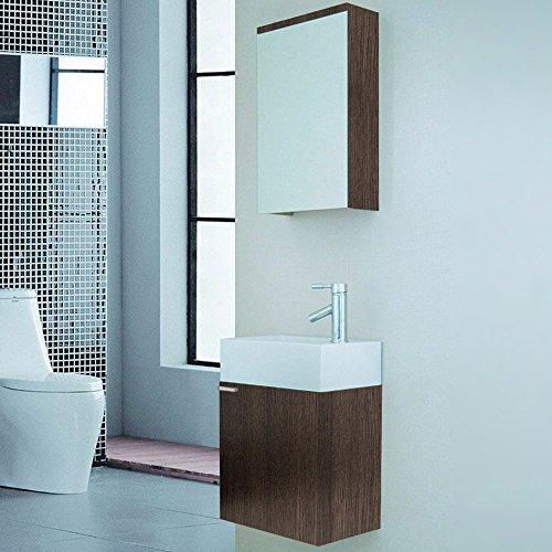 #Home Deluxe Badmöbel-Set Langeoog – Holz, inkl. Waschbecken und komplettem Zubehör#
