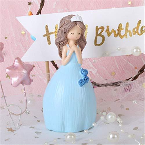 Mrncw Little Princess Cake Decoration Party Dessert Dress Up Cartoon Resin Crafts Little Dolls Birthday Party Supplies (Dress Up Birthday Party Supplies)