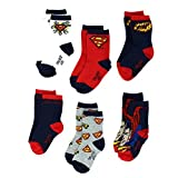 Superman Baby/Infant/Toddler 6 pack Crew Socks 0-6 Months