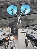 ViZe 10mm Specchietti Moto Retrovisori Universale Specchio Moto Per Yamaha Honda Triumph Ducati Sport Bike Street Bike Motivo Nero