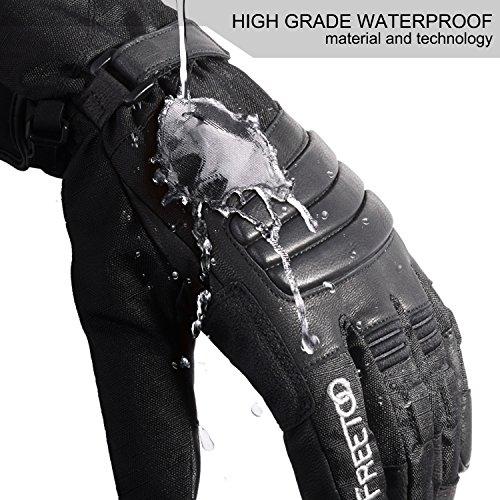 FREETOO Verstärkte Taktische Handschuhe mit PU-Leder + Nylon Design-Ideen für Fahrradfahren, Schießen, Fahren und andere Outdoor-Aktivitäten (Schwarz) - 3