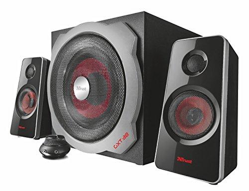 Trust GXT 38 2.1 Gaming Lautsprechersystem mit Subwoofer (für Smartphone/PC- Tablet, 120 Watt)
