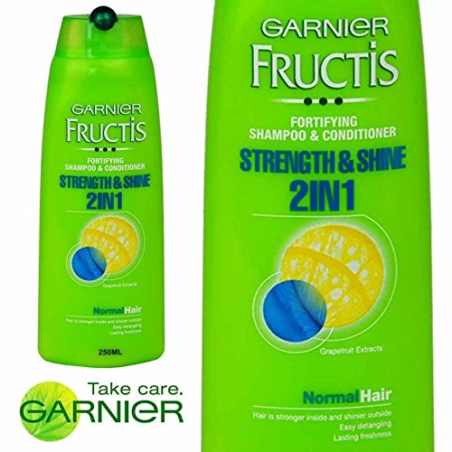 6 x Garnier Fructis Strength & Shine 2in1 Fortifying Shampoo & Conditioner 250ml