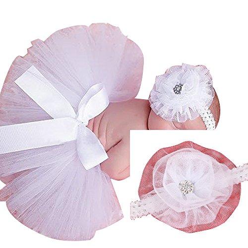 Newborn Infant Toddler Bébés filles Jupe Tutu Robe Bandeau Set pour la photographie 7