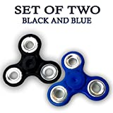 #10: Fidget Spinner - Anti Anxiety Fidget Spinner Helps Focusing Fidget Toys [3D Figit] Premium Quality EDC Focus Toy for Kids & Adults - Best Stress Reducer Relieves Anxiety and Boredom Ceramic Cube Bearing - BLACK & BLUE By ART N SOUL