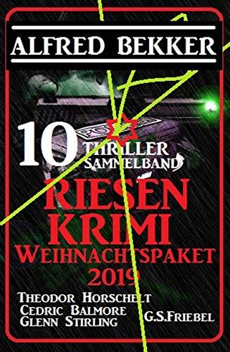 10 Thriller Riesen Krimi Weihnachtspaket 2019 Sammelband