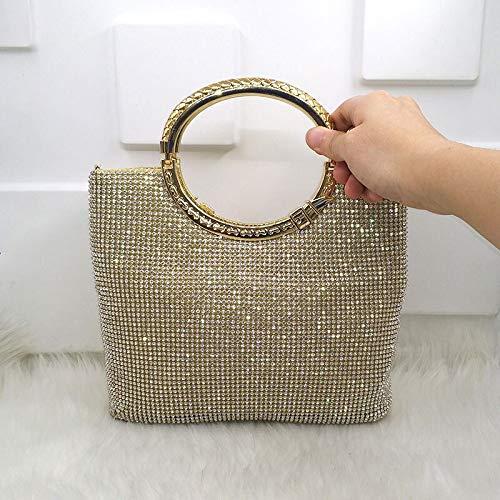 HHdstb Kristall Diamant Elegante Kupplung Frauen Braut Hochzeit Brieftasche Geldbörse Abend Party Tasche Gold/Silber/Schwarz Handtasche -