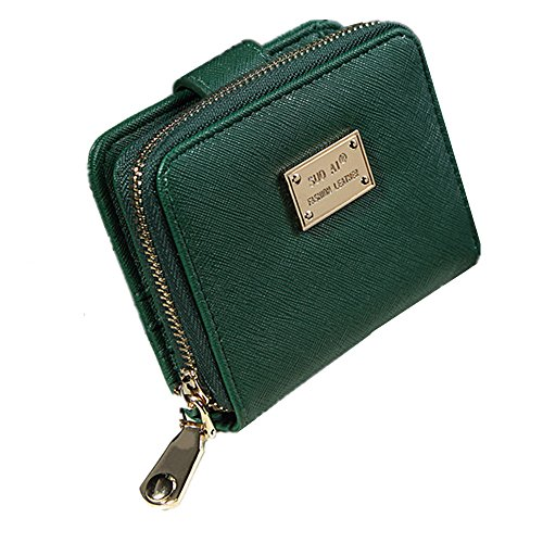 AUMING Ultra Slim Mini Size Brieftasche Frauen Licht Und Dünne Kreditkarten Geldbörse (Color : Green) - Frauen Kreditkarte Brieftaschen