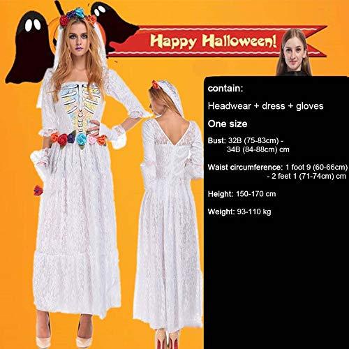 SPFAZJ Halloween Kostüme Cosplay einheitliche Verführung setzen Vampir Königin Dämon blutigen Hexe mumifizierten Braut Kostüm