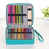 Urase Crayons de couleur en cuir PU pour crayons à papier Prismacolor Crayola 120 Slots vert