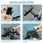 CHEREEKI-Porta-Cellulare-Bici-Supporto-Bici-Smartphone-Lega-di-Alluminio-con-360-Rotazione-per-Bicicletta-Ciclismo-GPS-e-Altri-Smarphones-35-65-Pollici