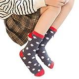 Bayliney 1 Paar Unisex BeiläUfig Weihnachten Süß Karikatur Tier Dicke StrüMpfe Schlafen Socken Wolle Ambielly Frau Winter Jahrgang Weich Warm Zum Wandern Trekking Damen Boot Socken (C)