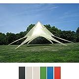CLP Sternzelt für den Garten I Event-Zelt mit 10 Meter Durchmesser I Gartenzelt mit einer überdachten Fläche von ca. 15 m² I In verschiedenen Farben erhältlich Creme