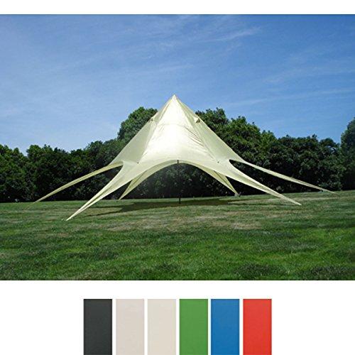 CLP Sternzelt für den Garten I Event-Zelt mit 10 Meter Durchmesser I Gartenzelt mit Einer überdachten Fläche von ca. 15 m² I erhältlich Creme
