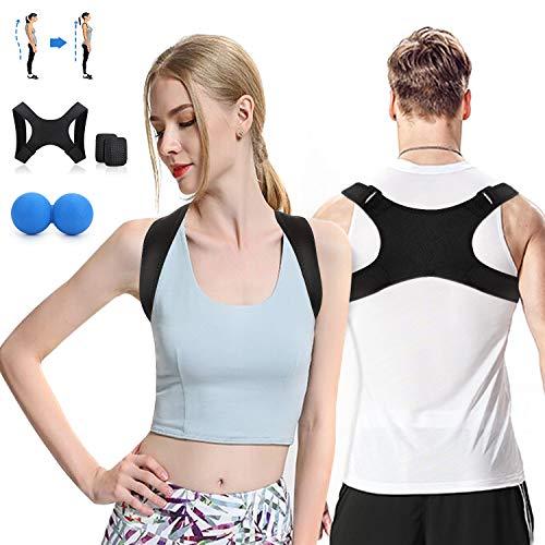 TopCrazy Haltungskorrektur Rücken,Geradehalter zur Haltungstrainer,Schmerzlinderung von Hals,Rücken,Schulter und Körperhaltung,Rücken Sitzhaltung Korrektor für Damen und Herren