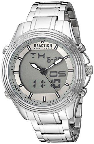 Kenneth Cole Reaction pour homme 'Ana-digit' à quartz en métal et acier inoxydable montre, couleur: Les LED Offrent (modèle: Rk50524003)