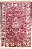 Carpeto Rugs Teppich Orientalisch Kurzflor 100% Viskose Rot 80 x 150 cm S