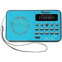 Timorn Radio Mini portátil reproductor de música Soporta la función de la tarjeta de TF / USB / SD / MP3 / FM radio (L938)