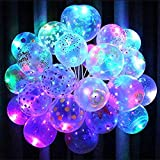 Chocozone Set of 25 Printed LED Balloons for Party Balloons for Birthday Balloons for Decoration ( Printed Birthday Balloons Assorted)