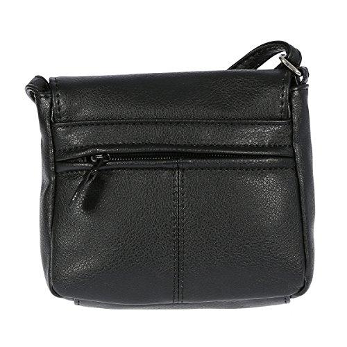 Christian Wippermann®, Borsa a tracolla donna grigio Tortora chiaro 16 x 13 x 4 cm nero