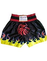 Muay Thai pantalones cortos PRO lucha MMA Kick Boxing para artes marciales Kickboxing, Black, Red, White, Blue, Yellow, Orange