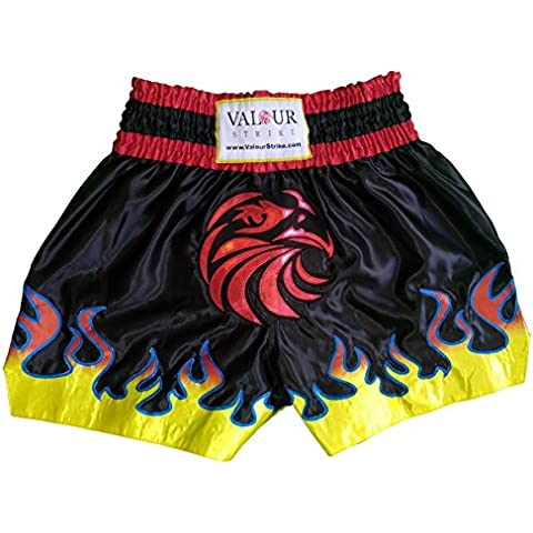 Muay Thai pantaloncini Pro Lotta MMA Kick Boxing Trunks Arti Marziali, Kickboxing, Black, Red, White, Blue, Yellow, Orange, M