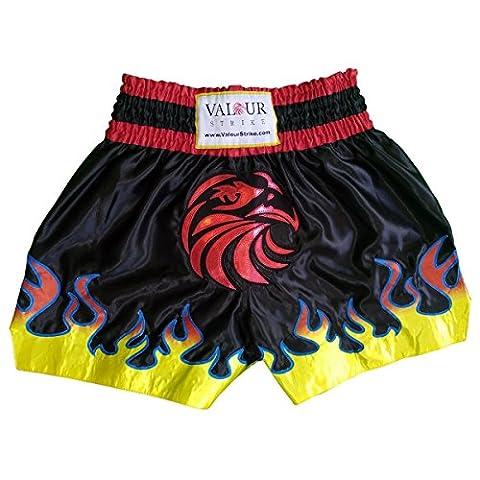 Muay Thai pour homme Pro Combat Arts Martiaux Kick boxe de Lutte MMA pour garçon Kickboxing, Black, Red, White, Blue, Yellow, Orange
