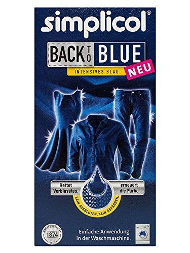 Simplicol Farberneuerung Back-to-Blue: Farbauffrischung und -Erneuerung in der Waschmaschine, Hautfreundlich, All-in-1 DIY Färbemischung mit Textilfarbe für Stoffe [alte Version]