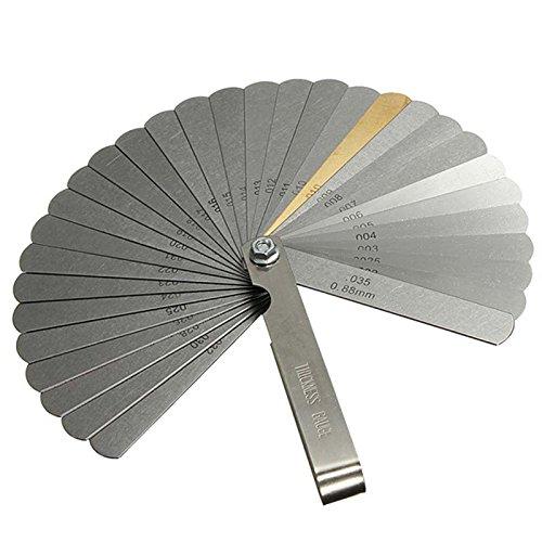 Spessimetro Misuratore 32 fogli Strumento combinato per misurare il gioco 0,04-0,88mm