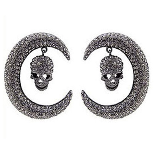 butler-and-wilson-large-pewter-skull-curved-tusk-drop-earrings