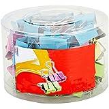 JUNGEN Pinces Double Clip Photo à Papier Craft DIY en Acier 25mm Assorties Mini Organisateur Pinces à Dessin Couleurs( 1 boîte) 48pcs
