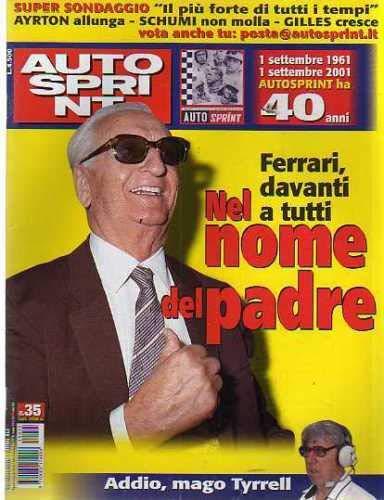 Autosprint Auto Sprint 35 Agosto Settembre 2001 Senna, Gilles, Tyrrell