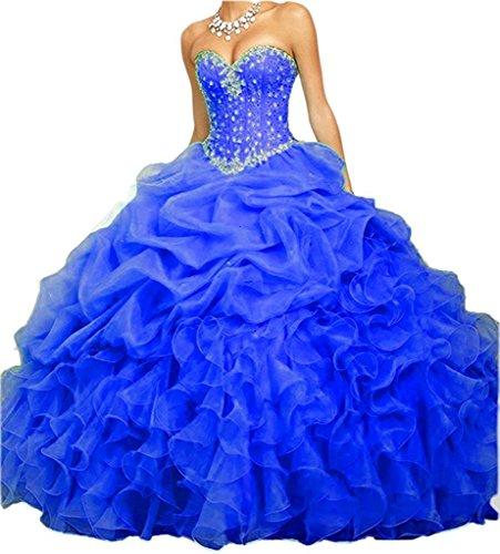 Vestidos de xv azul cobalto