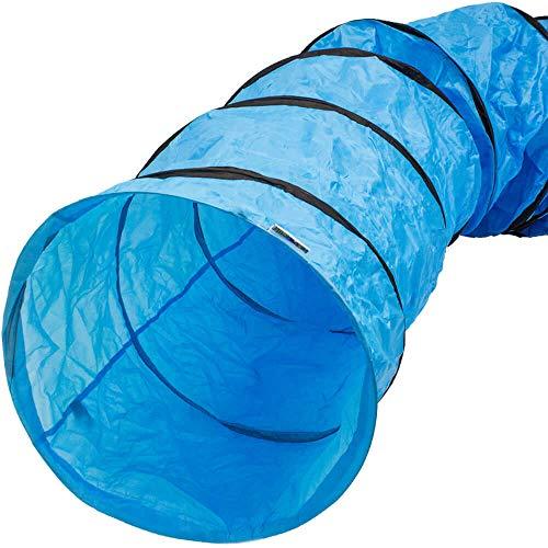 Rinderohr® Hunde- und Agilitytunnel blau mit Tragetasche