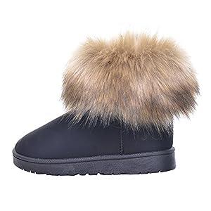 Winter Frauen Runde Kopf Schrubben Fuchspelz Schnee Stiefel Plus Samt Gepolsterte Baumwolle Schuhe Casual Mode Warme Kurze Stiefel