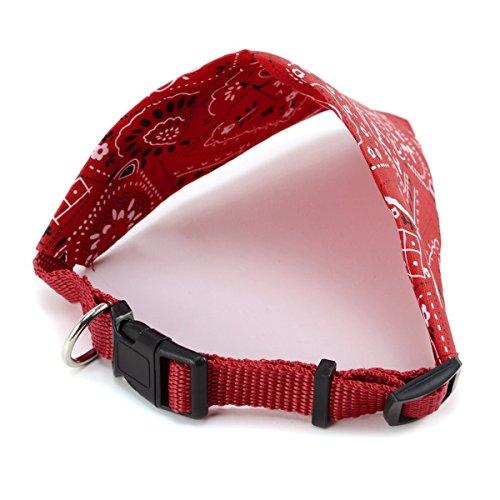 Omeny 1 pc Cuello ajustable para perros Bandana Bufanda Collar-Rojo