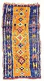 Trendcarpet Marokkanische Berber Teppich Boucherouite 290 x 140 cm