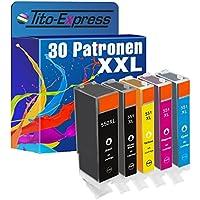 PlatinumSerie® 30 Cartucce compatibile con Canon PGI-550 & CLI-551 Black Photoblack Cyan Magenta Yellow Pixma MX725 MX925 MG5450 MG6350 IP7250