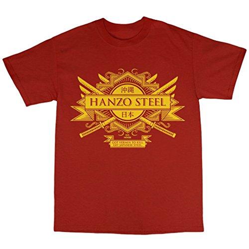 Hanzo Steel T-Shirt 100% Baumwolle Rot