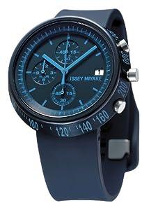 Reloj Issey Miyake SILAZ006 de cuarzo unisex, correa de plástico color azul de Issey Miyake