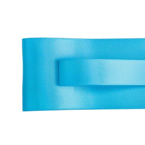 """Di alta qualità nastro satinato Double-face, francese Ruban, Nastro, Neotrims è la migliore qualità ad un ottimo prezzo all' ingrosso e in larghezza Dimensioni di 50mm (2"""") e 19mm (3/4"""") per matrimoni, abbigliamento e artigianato cucire o, La sua bella., Poliestere, Turquoise, 4mts - 50mm (2"""")"""