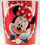 BWG Disney Minnie Mouse - Cestino per la Carta per la cameretta dei Bambini, Colore: Rosso