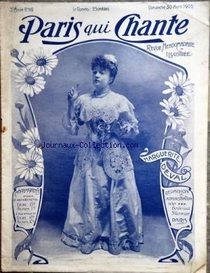 PARIS QUI CHANTE [No 119] du 30/04/1905 - MARGUERITE