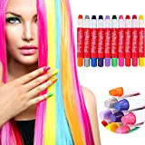 Y56 10 Colours Temporary Hair Chalk Pens - Disposable Disposable Temporary Beard Hair